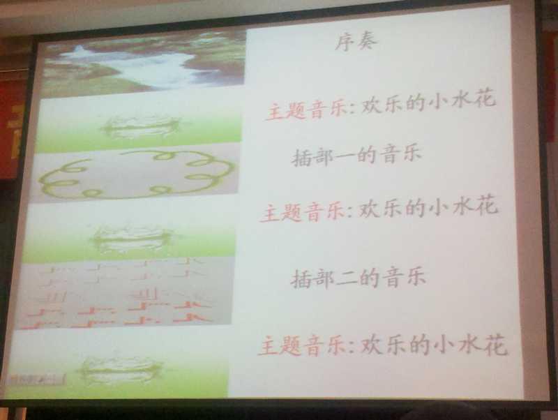 如《瑶族舞曲》中,教师展示了学生根据欣赏乐曲