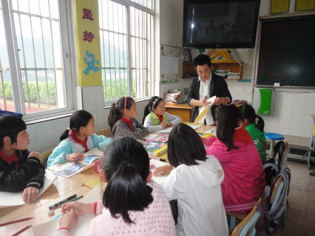 金华职业技术学院学子辅导到上墅小学