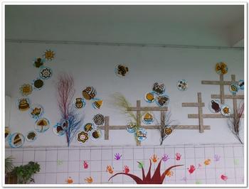 幼儿园树枝手工制作苹果树图片