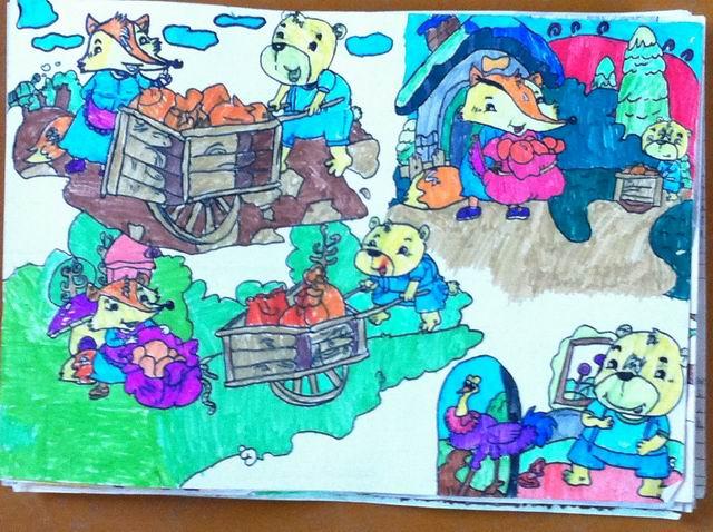 """本次""""书香节"""",各中队积极开展读书活动,孩子们也很积极踊跃参加画图"""