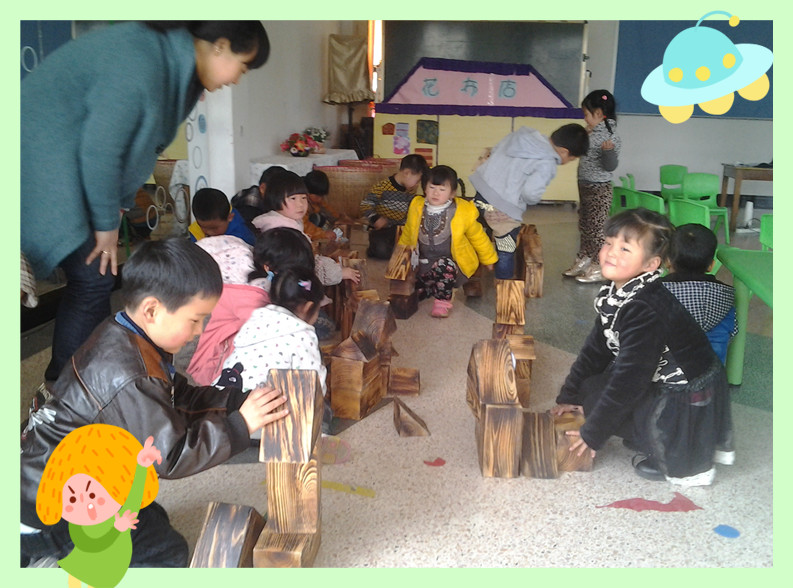 幼儿园 游戏 湖州/因此我们的老师动了一番脑筋,把建构游戏带入了课堂,让孩子们...