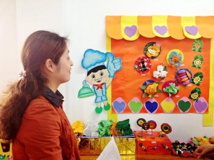 美化环境 实用环保——乾元镇中心幼儿园区角材料