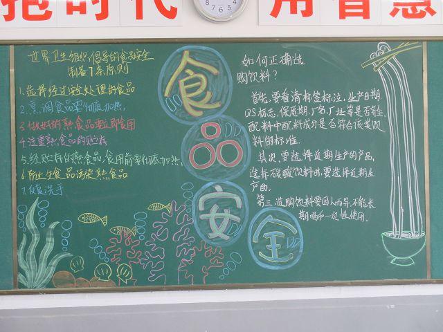 八里店二中 设计食品安全黑板报专刊