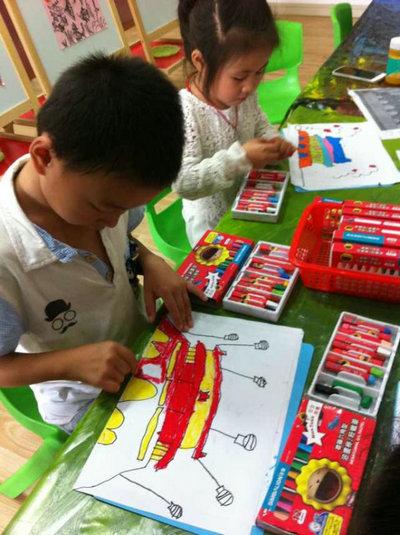 绘画国庆——干山幼儿园开展庆国庆幼儿绘画比赛