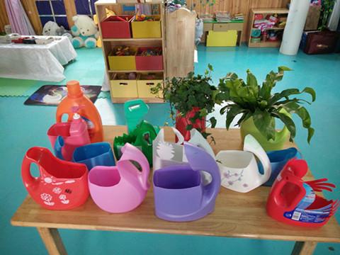 幼儿园油桶手工制作花盆