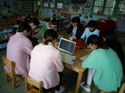 记钟管镇中心幼儿园户外混龄自主游戏研讨活动报道